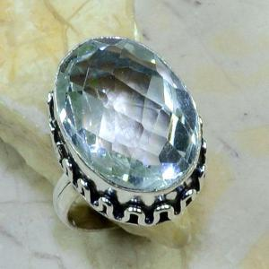 Tpz 123b bague t59 topaze blanche cristal bijoux argent 925 vente achat