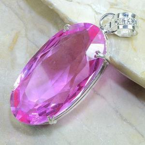 Tpz 125b pendentif pierre topaze rose pink gemme taille bijou argent 925 vente achat