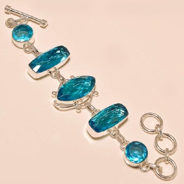 Tpz 129a bracelet topaze bleu suisse bijou argent 925 vente achat