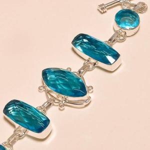 Tpz 129b bracelet topaze bleu suisse bijou argent 925 vente achat