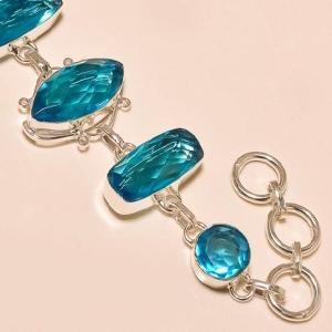 Tpz 129c bracelet topaze bleu suisse bijou argent 925 vente achat