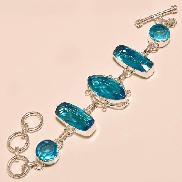 Tpz 129d bracelet topaze bleu suisse bijou argent 925 vente achat