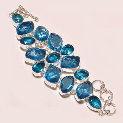 Tpz 132a bracelet topaze bleu suisse bijou argent 925 vente achat