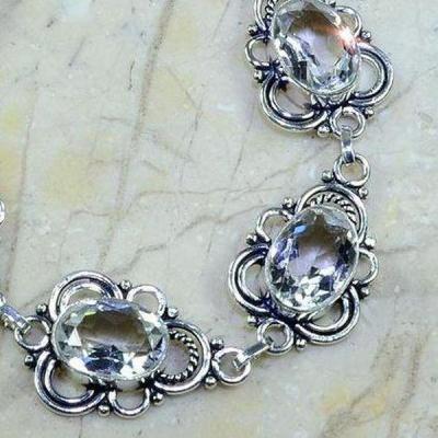 Tpz 135c bracelet topaze blanche cristal bijou argent 925 vente achat