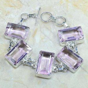 Tpz 142d bracelet topaze rose bijou argent 925 vente achat