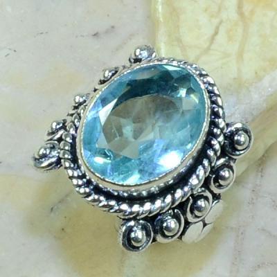 Tpz 144a bague t55 topaze bleue suisse bijoux argent 925 vente achat