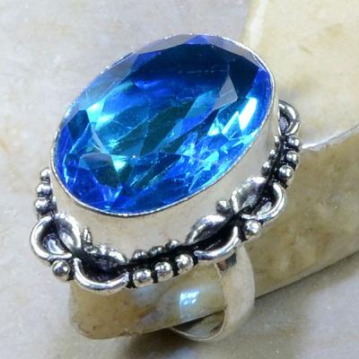 Tpz 151a bague t58 topaze bleu suisse bijoux argent 925 vente achat