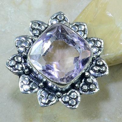 Tpz 155a bague t57 topaze rose bijoux renaissance argent 925 vente achat