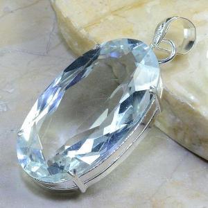 Tpz 162b pendentif pierre topaze blanche cristal gemme taille bijou argent 925 vente achat
