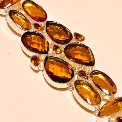 Tpz 170c bracelet topaze orange bijou renaissance grand siecle argent 925 vente achat