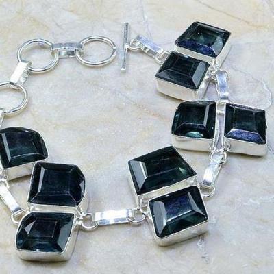 Tpz 203c bracelet topaze iolite bleue bijou argent 925 vente achat