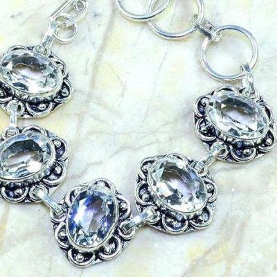 Tpz 207c bracelet topaze blanche cristal bijou argent 925 vente achat