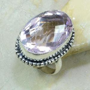 Tpz 210a bague t61 topaze rose bijoux renaissance argent 925 vente achat