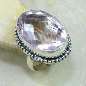Tpz 210b bague t61 topaze rose bijoux renaissance argent 925 vente achat
