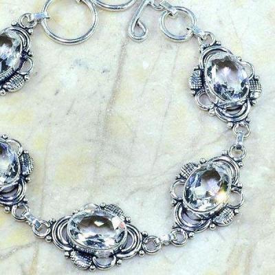 Tpz 218c bracelet topaze blanche cristal bijou argent 925 vente achat
