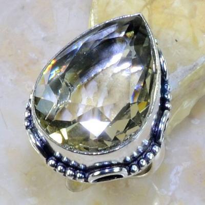 Tpz 233a bague t57 topaze blanche bijoux renaissance medievale argent 925 vente achat