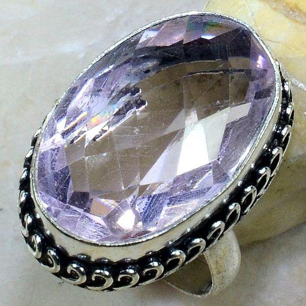 Tpz 249a bague t61 topaze rose pierre taillee bijoux renaissance argent 925 vente achat