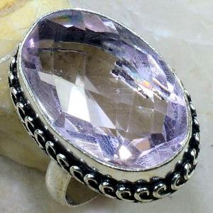 Tpz 249b bague t61 topaze rose pierre taillee bijoux renaissance argent 925 vente achat