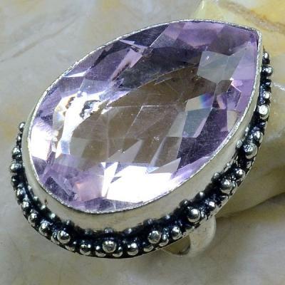Tpz 253a bague t60 topaze rose pierre bijoux renaissance argent 925 vente achat