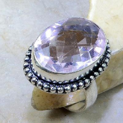 Tpz 260a bague t60 topaze rose pierre taillee bijoux renaissance argent 925 vente achat