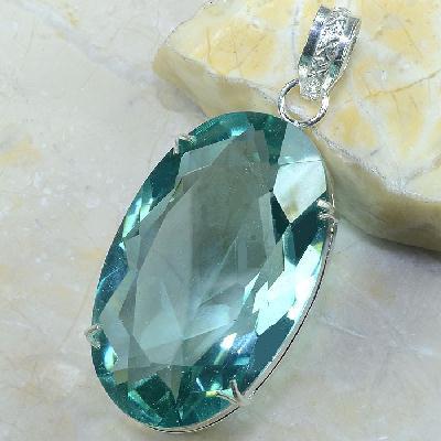 Tpz 269b pendentif pierre topaze bleu ciel gemme taille lithotherapie bijou argent 925 vente achat