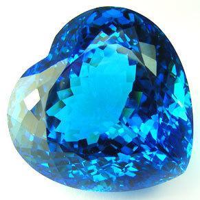 Tpz 289a coeur ocean topaze bleu suisse pierre naturelle lithotherapie gemme achat vente bijou