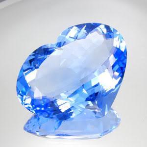 Tpz 290a coeur topaze bleu ciel pierre naturelle lithotherapie gemme achat vente bijou