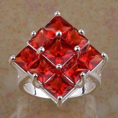 Tpz 297b bague t60 topaze rouge bijoux renaissance medievale argent 925 vente achat