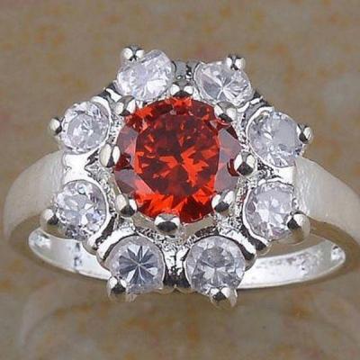 Tpz 298a bague t54 topaze rouge bijoux renaissance medievale argent 925 vente achat