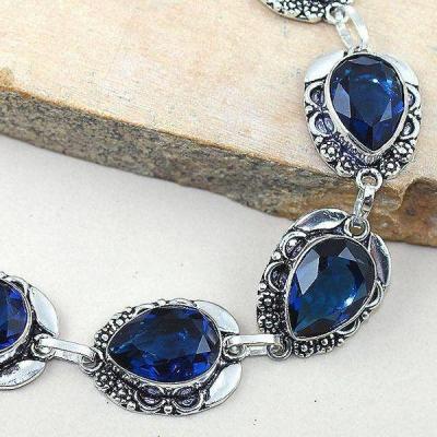 Tpz 305b bracelet topaze iolite bleue bijou argent 925 vente achat 1