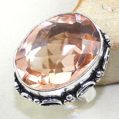Tpz 309a bague t53 chevaliere topaze rose bijoux renaissance medievale argent 925 vente achat