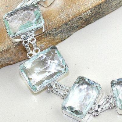 Tpz 314c bracelet topaze quartz blanche cristal bijou argent 925 vente achat