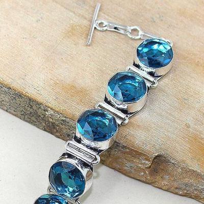 Tpz 321b bracelet topaze quartz bleue iolite suisse bijou argent 925 vente achat