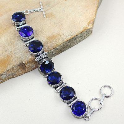 Tpz 323a bracelet topaze quartz bleue tanzanite bijou argent 925 vente achat
