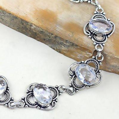 Tpz 334c bracelet topaze quartz blanche cristal bijou argent 925 vente achat
