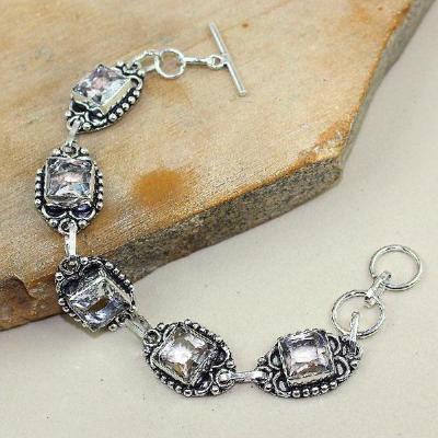 Tpz 351a bracelet topaze blanche cristal bijou argent 925 vente achat