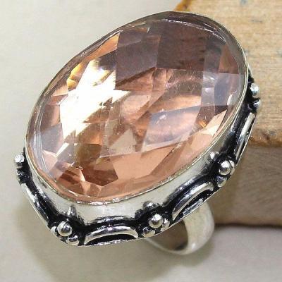 Tpz 353a bague t57 chevaliere topaze rose peche bijoux medievale argent 925 vente achat
