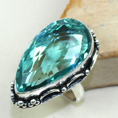 Tpz 358a bague t59 chevaliere topaze bleue suisse bijoux argent 925 vente achat