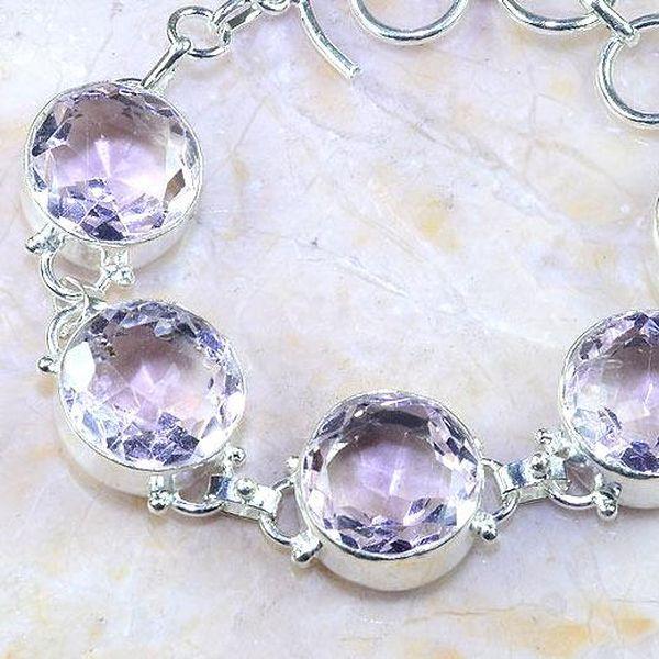 Tpz 369b bracelet topaze rose bijoux medieval argent 925 vente achat
