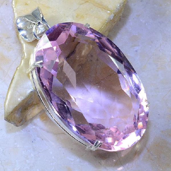 Tpz 374a pendentif pierre topaze rose gemme lithotherapie bijou argent 925 vente achat
