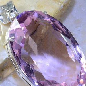 Tpz 374c pendentif pierre topaze rose gemme lithotherapie bijou argent 925 vente achat