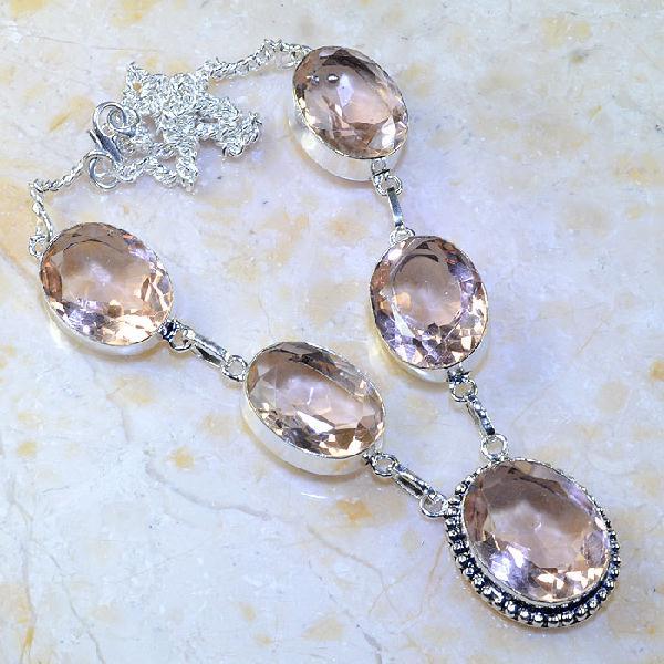 Tpz 376a collier sautoir parure topaze rose pink bijou argent 925 vente achat