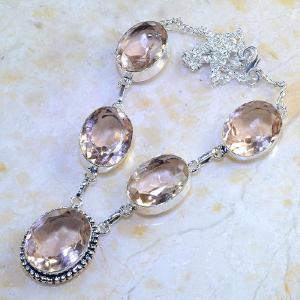 Tpz 376d collier sautoir parure topaze rose pink bijou argent 925 vente achat