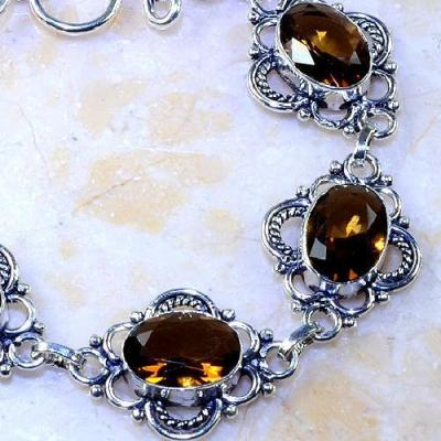 Tpz 381c bracelet topaze champagne imperiale bijou argent 925 vente achat