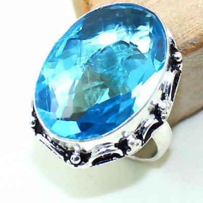 Tpz 386a bague t58 medievale chevaliere topaze bleue suisse bijoux argent 925 vente achat