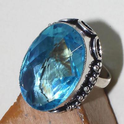 Tpz 388c bague t58 medievale chevaliere topaze bleue suisse bijoux argent 925 vente achat
