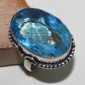 Tpz 391b bague t60 chevaliere medievale topaze bleue suisse bijoux argent 925 vente achat