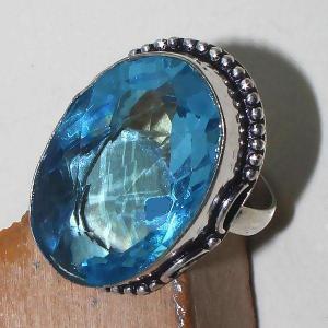 Tpz 391c bague t60 chevaliere medievale topaze bleue suisse bijoux argent 925 vente achat