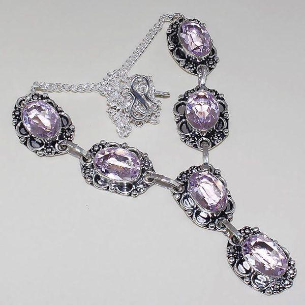 Tpz 392a collier sautoir parure topaze rose pink bijou argent 925 vente achat