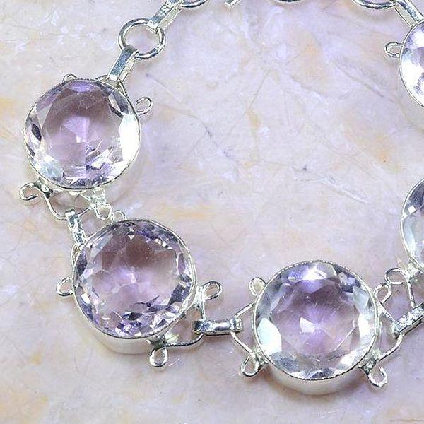 Tpz 409b bracelet topaze rose pink bijou argent 925 vente achat